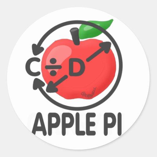 Apple Pi Round Sticker