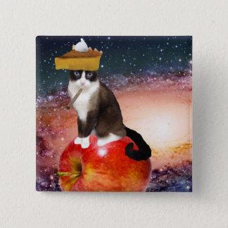 apple pie 15 cm square badge
