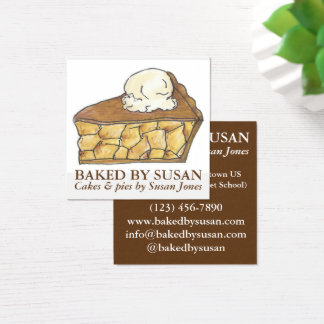 Apple Pie a la Mode Baked By Bakery Pastry Chef Square Business Card