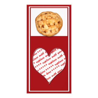 Apple Pie (Add Background Color) Personalized Photo Card