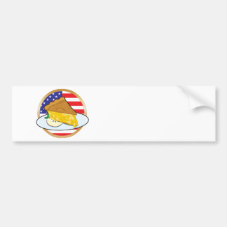 Apple Pie American Flag Bumper Sticker