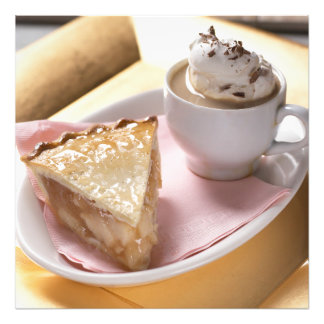 Apple pie and hot cocoa photograph