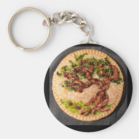 Apple Pie Basic Round Button Key Ring