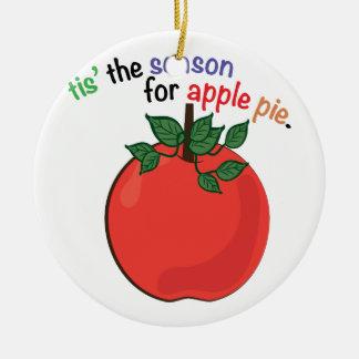 Apple Pie Round Ceramic Decoration