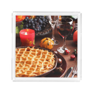 Apple Pie For Thanksgiving Acrylic Tray