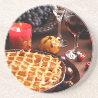 Apple Pie For Thanksgiving Coaster