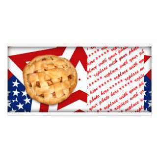 Apple Pie on Stars & Stripes Design Picture Card