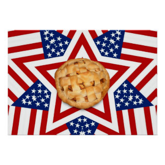 Apple Pie on Stars & Stripes Poster