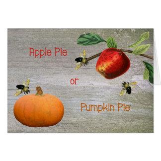 Apple Pie or Pumpkin Pie Thanksgiving Card