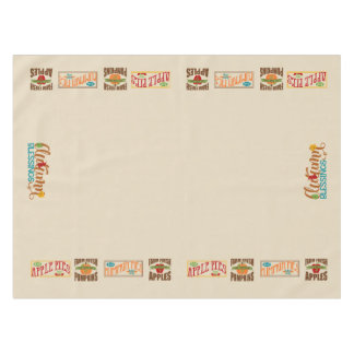 Apple Pie, Pumpkin Pie Fall Tablecover Tablecloth