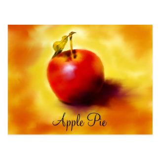 Apple Pie Recipe Card Post Card
