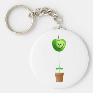 Apple Plant Key Ring