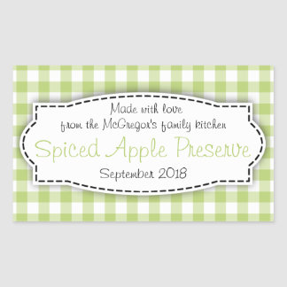 Apple preserve jam green food label sticker