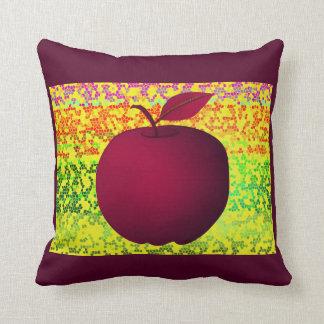Apple Purple Artistic Vibrant Chic Stylish Modern Cushion