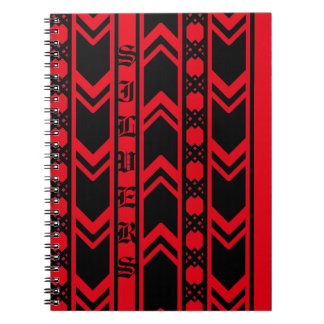 Apple Red wave Spiral Notebook