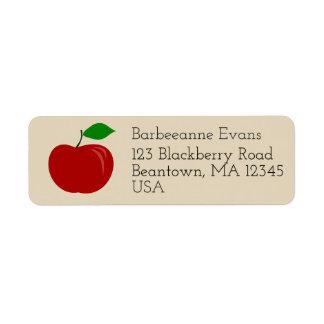 Apple Return Address Label