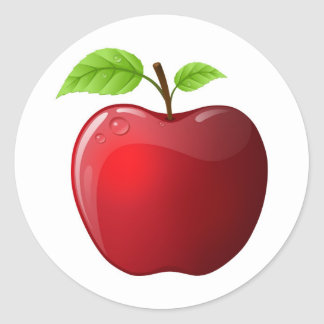 apple round sticker