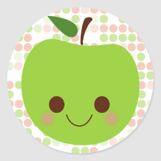 Apple Sass Classic Round Sticker