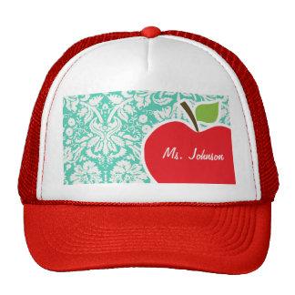 Apple Seafoam Green Damask Trucker Hat