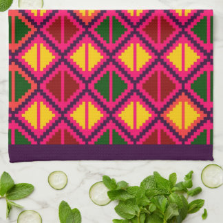 """Apple Slice"" kitchen towel - multicolor #1"