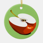 Apple slice ornament