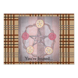 Apple Slice Pentacle Wreath Birthday Celebration 11 Cm X 16 Cm Invitation Card