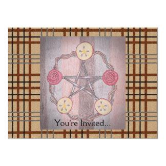 Apple Slice Pentacle Wreath Birthday Celebration 17 Cm X 22 Cm Invitation Card