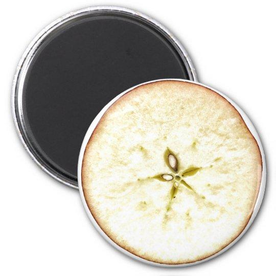 Apple Slice Round Magnet