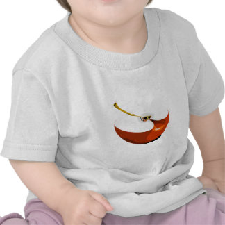 Apple slice tee shirts