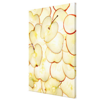 apple slices backlit and arranged in abstract canvas print