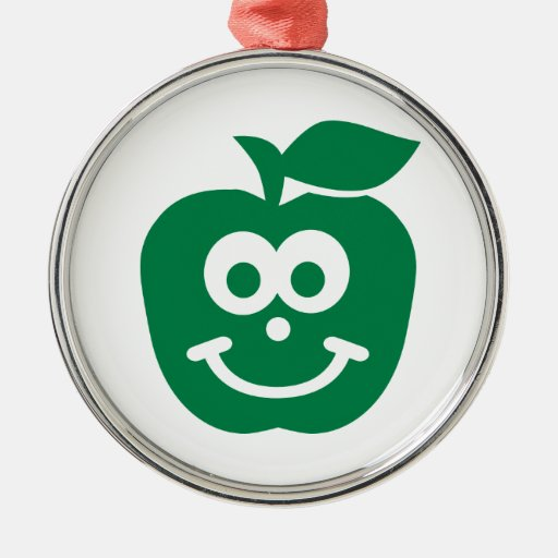 Apple smiling face christmas ornament
