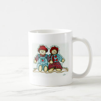 Apple Snowman Couple Coffee Mug