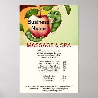 Apple Spa Massage Beauty Salon Poster