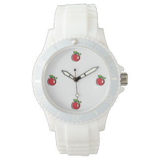 Apple Swoozle Women's Sporty White Silicon Watch
