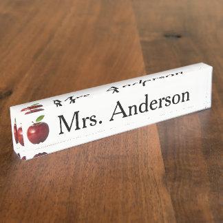 Apple Teacher Nameplate for desk