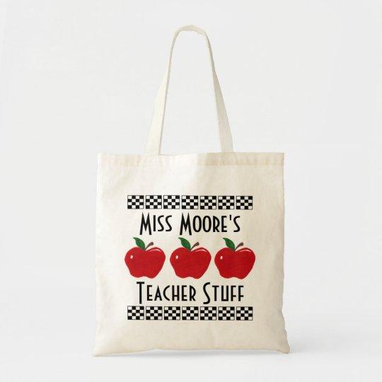 Apple Teacher Stuff - Customisable Bag
