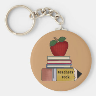 Apple Teachers Rock Tshirts and Gifts Keychains