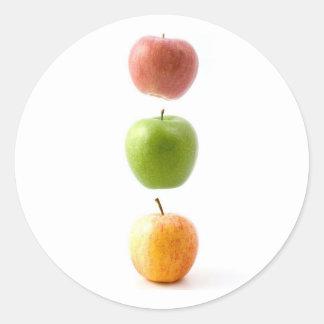 Apple Time Classic Round Sticker