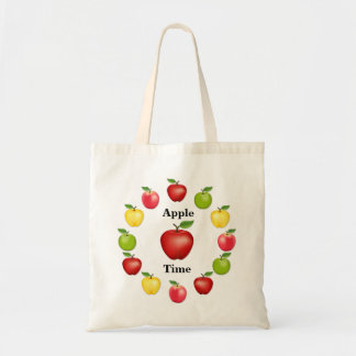 Apple Time, Delicious, Granny Smith, Pink Variety Tote Bag