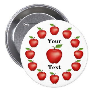 Apple Time, Red Delicious 7.5 Cm Round Badge