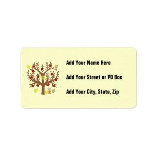 Apple Tree Address Label