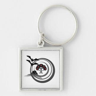 Apple Tree and Bats Key Ring