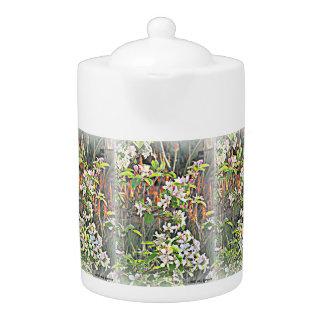 Apple Tree Blooms Tea Pot