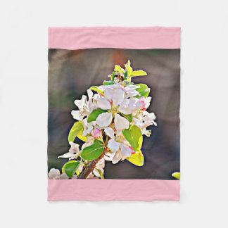 Apple Tree Blossoms Fleece Blanket