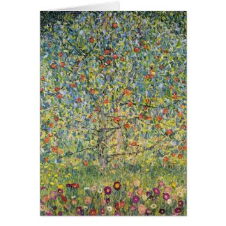 Apple Tree by Gustav Klimt, Vintage Art Nouveau Card