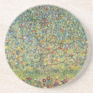 Apple Tree by Gustav Klimt, Vintage Art Nouveau Coaster
