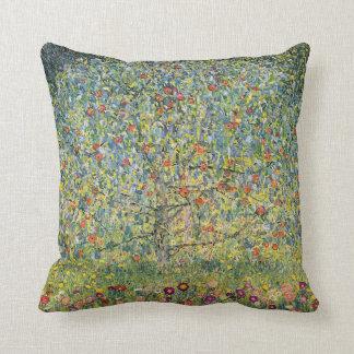 Apple Tree by Gustav Klimt, Vintage Art Nouveau Cushion
