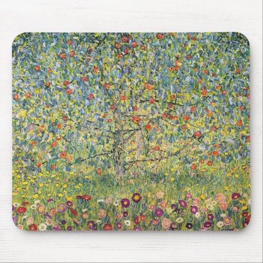 Apple Tree by Gustav Klimt, Vintage Art Nouveau Mouse Pads