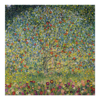 Apple Tree by Gustav Klimt, Vintage Art Nouveau Poster