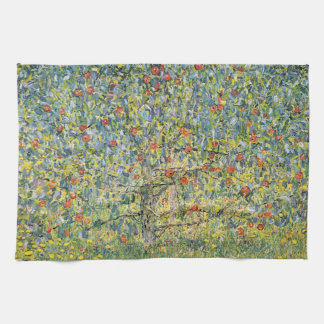Apple Tree by Gustav Klimt, Vintage Art Nouveau Tea Towel